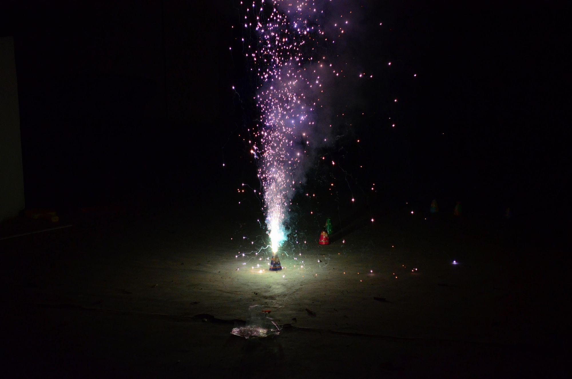 hight resolution of homemade fountain firework