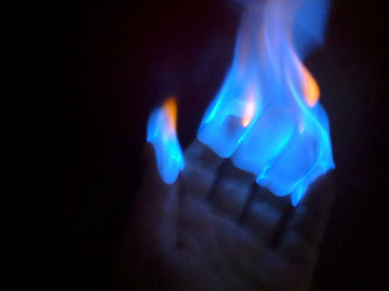 hand sanitizer fire project