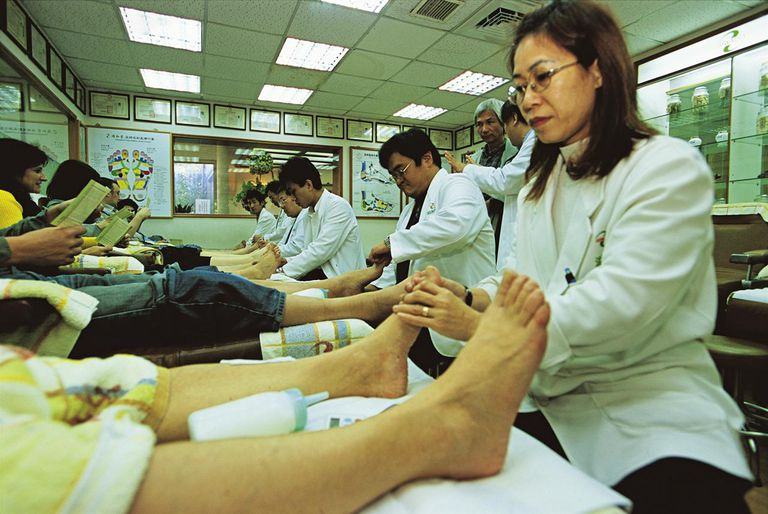 Getting a Chinese Foot Massage