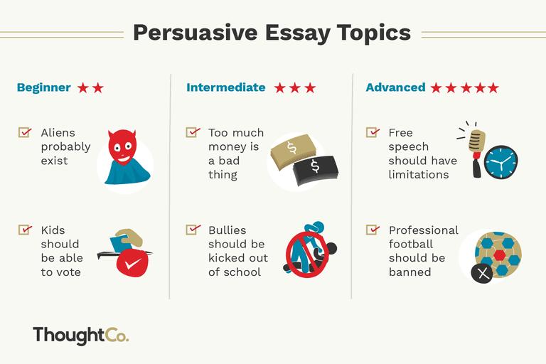 things to write persuasive essays on