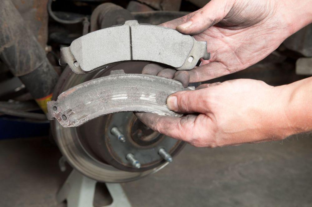 medium resolution of comparing worn and new brake pads
