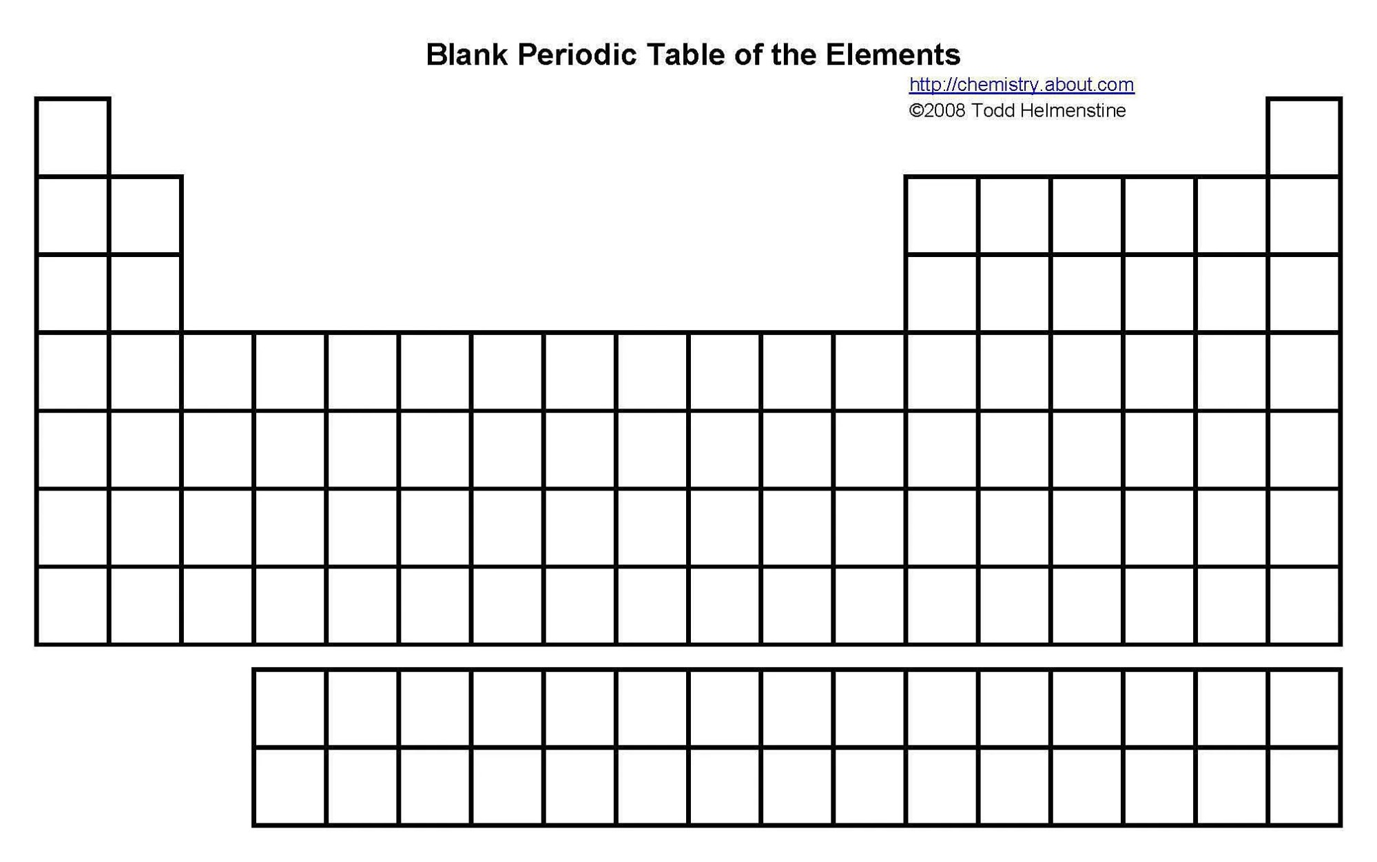hight resolution of fill in the boxes of this blank periodic table