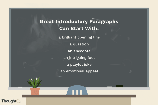 Examples of Great Introductory Paragraphs