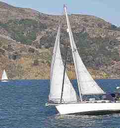 sailboat on san francisco bay san francisco california usa [ 1280 x 853 Pixel ]