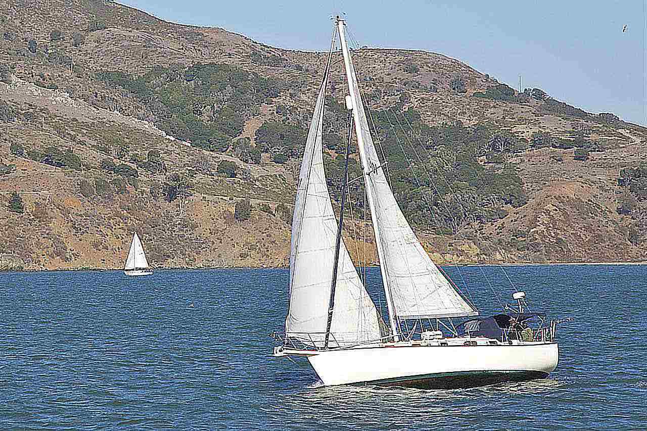 hight resolution of sailboat on san francisco bay san francisco california usa
