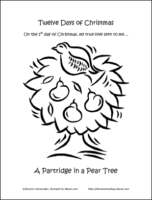 Make Your Own 12 Days of Christmas Coloring Book