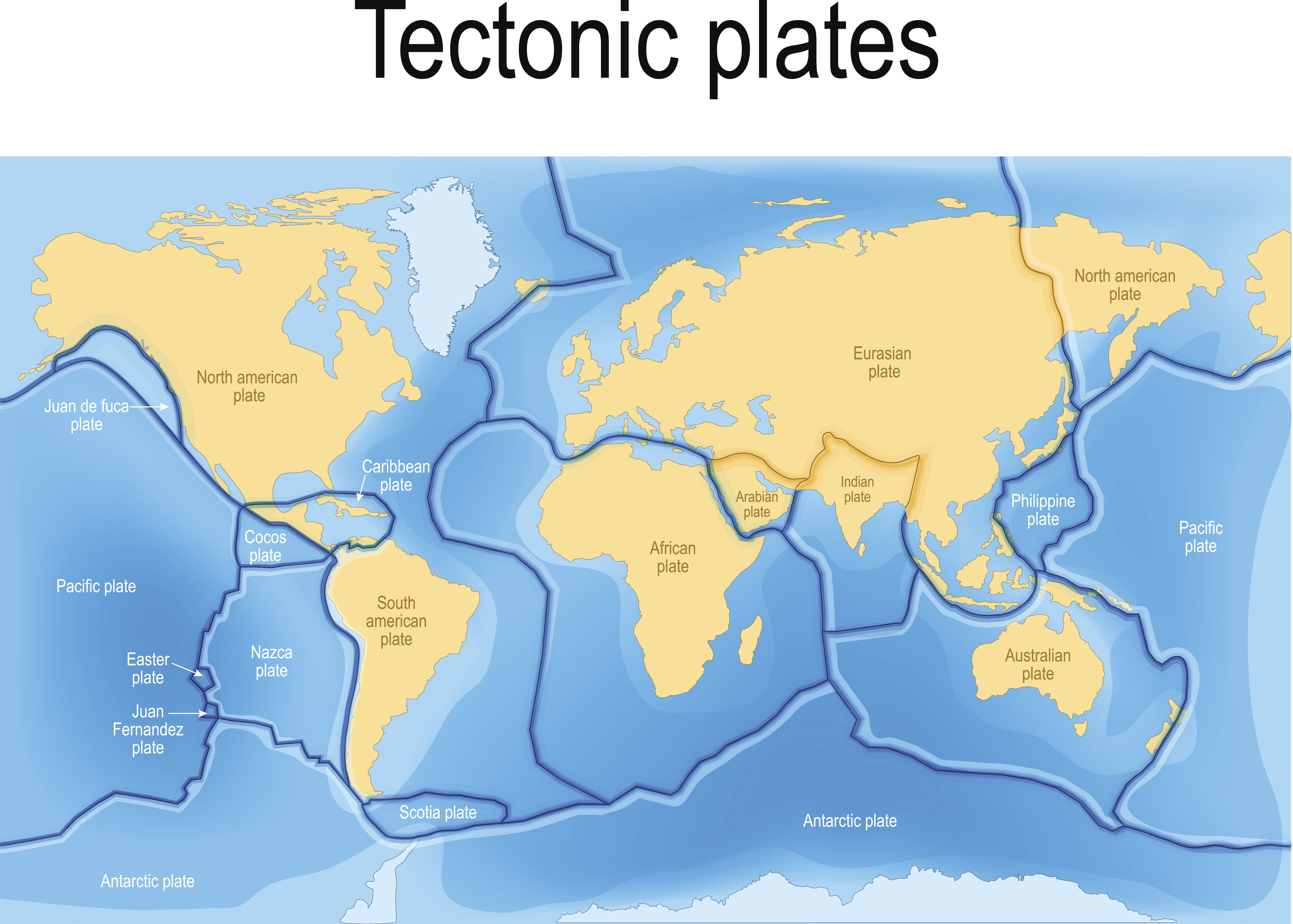 A Map Of Tectonic Plates And Their Boundaries
