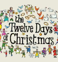 twelve day of christma clipart [ 4639 x 3593 Pixel ]