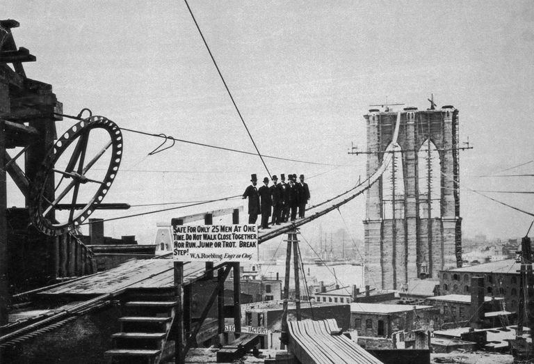 brooklyn bridge construction and