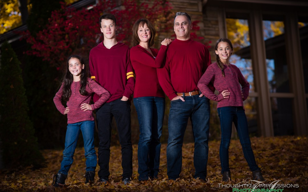 Fall outdoor family photos in Peterborough