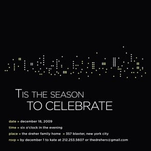 Modern Holiday Party Invites Thoughtfully Simple