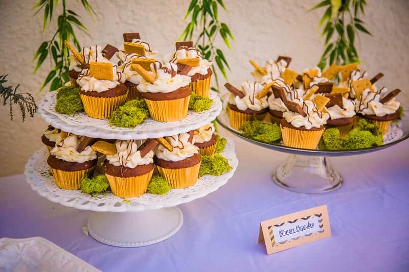 Baby Shower S'mores Cupcakes