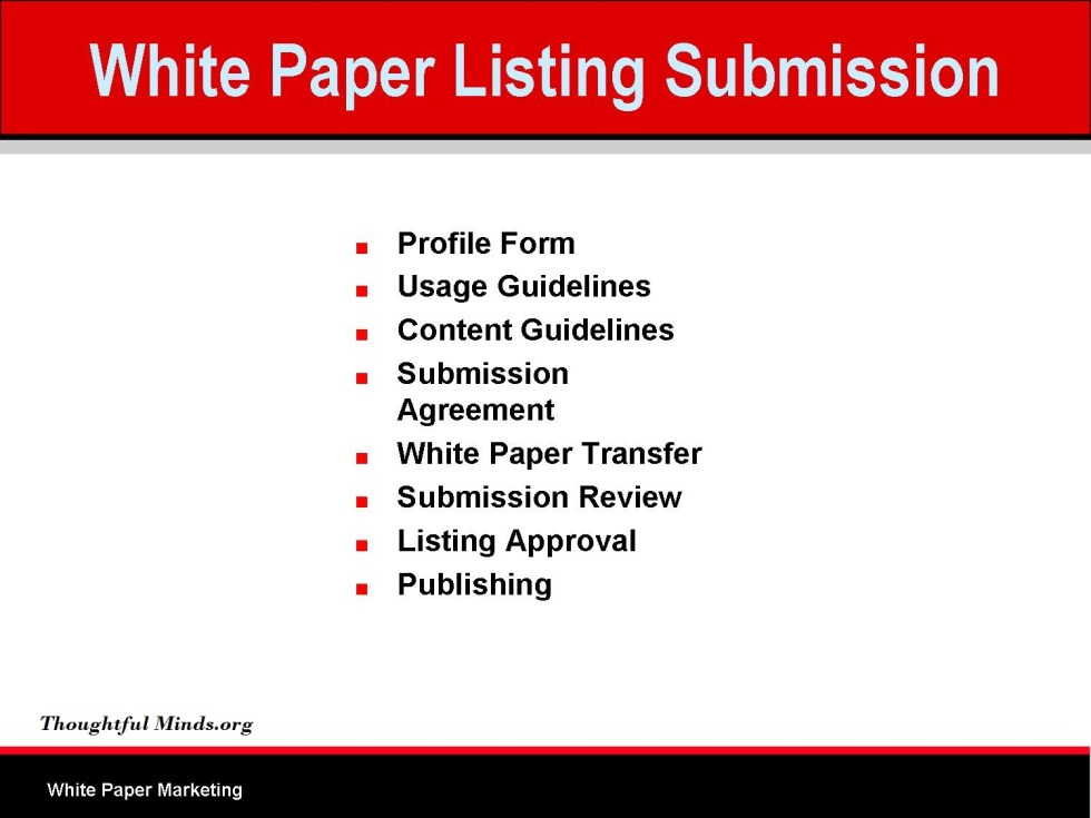 submit white papers