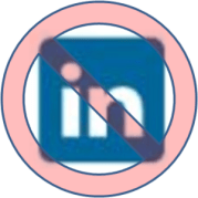 No Sign on LinkedIn Logo