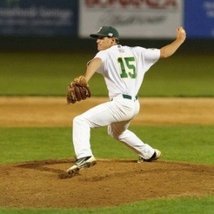 Pitcher Delivering a Pitch