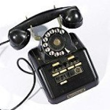 Old Black Rotary Dial Telephone