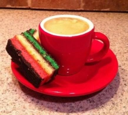 Italian Rainbow Cookie and Espresso