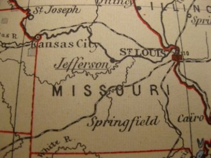 Vintage Map of Missouri