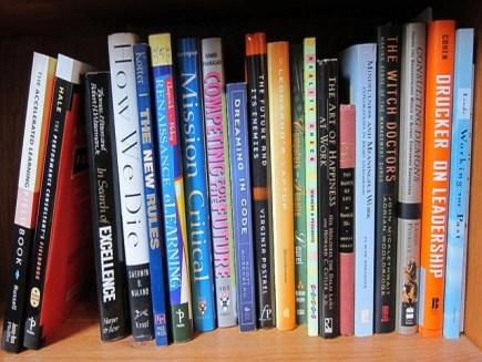 Business Books on a Bookshelf