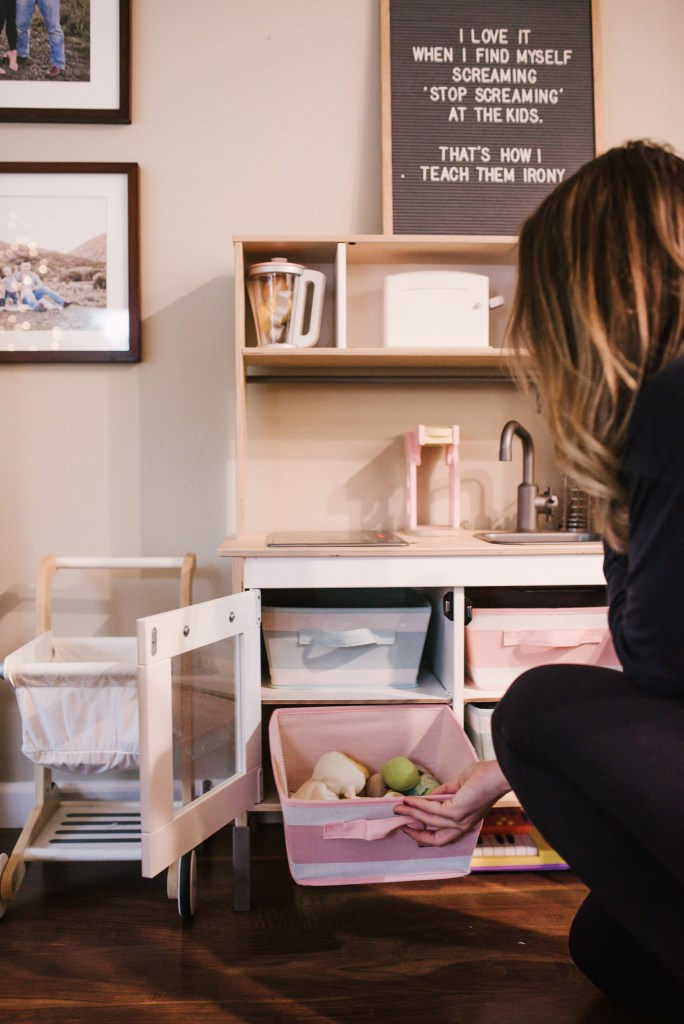 TOY STORAGE | SMALL SPACE LIVING | THOUGHTSBYBRANDI.COM