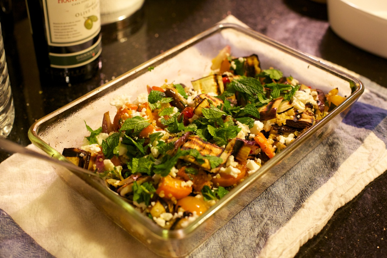 Roasted Vegetable Salad – a Feast for your Eyes and your Stomach