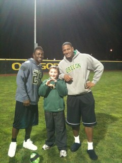Kanen Rossi and Oregon Duck Players