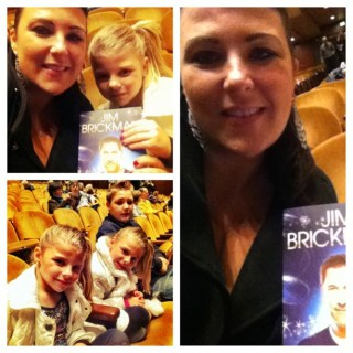 Sarah Centrella's kids at Jim Brickman concert