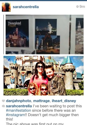 Sarah Centrella Manifesting Disneyland