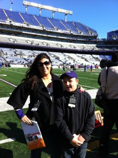 Sarah Centrella at Ravens game