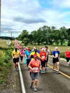 Heading into mile 3