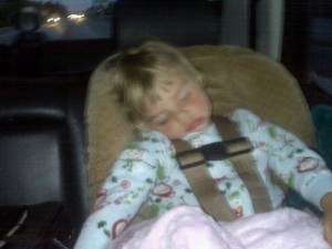 Izzy knocked at 2 years old