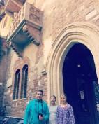The kids under Juliet's balcony in Verona