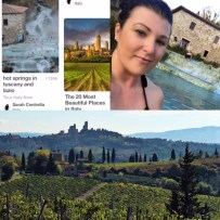 Photo of #futureBoard Thermal baths and San Gimignano Tuscany, then my reality pics.