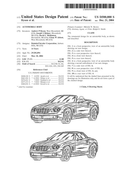 Design Patent Application, Patent to protect the design