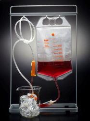 料理やドリンクが試験管や輸血パックで登場
