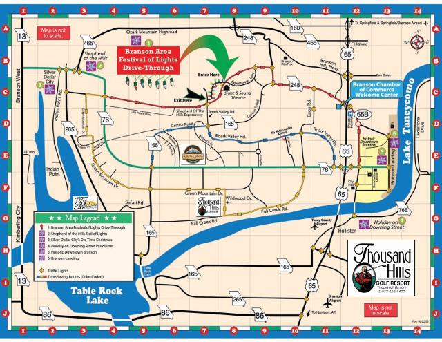Sitemap ThousandHillscom - City map of branson mo