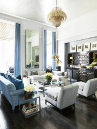 Silver And Blue Living Room - [peenmedia.com]