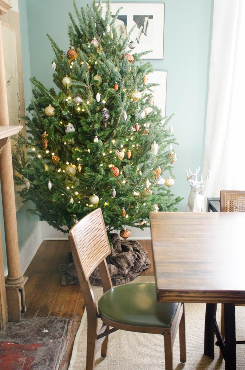 Metallic Woodland Christmas Tree Thou Swell