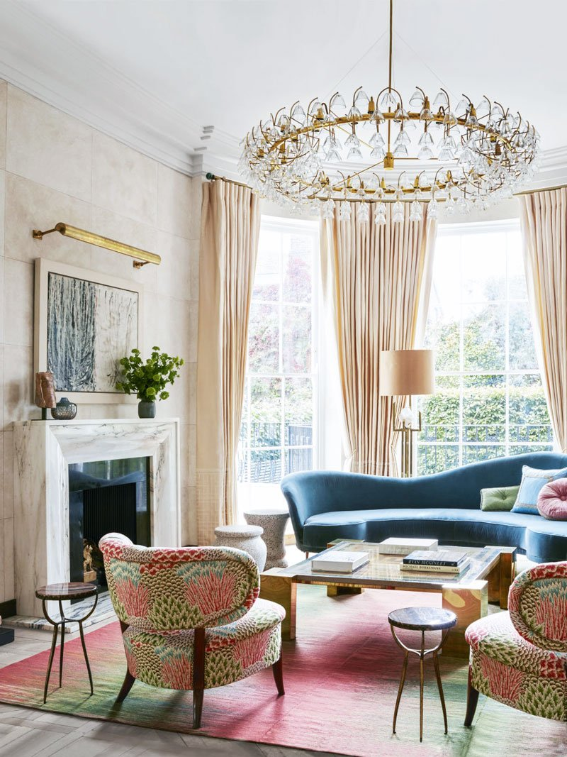 art deco living room pictures decorating ideas colours details in london thou swell with pink palette via thouswellblog