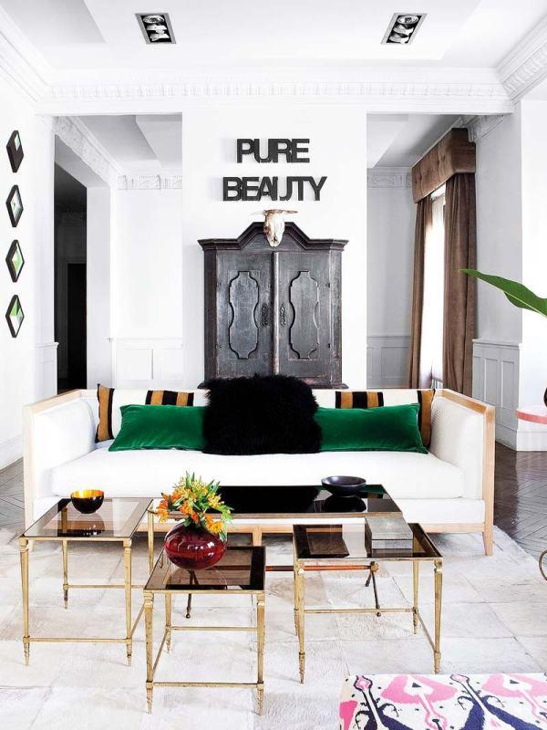 Modern Eclectic Living Room Design