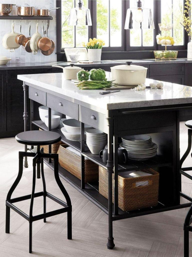 freestanding kitchen island soffit lighting stylish islands & carts - thou swell