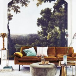 Latest Design Living Room 2018 Asian Decor Home Trend Forecast For Thou Swell Scenic Mural In A Modern On Thouswellblog