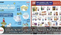 โปรโมชั่น สมาชิก Foodland 366 Reward แลกของพรีเมี่ยม Moomin สินค้าแจกคะแนนพิเศษ