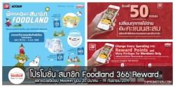 สมาชิก Foodland 366 Reward สะสมคะแนน แลกของพรีเมี่ยม Moomin