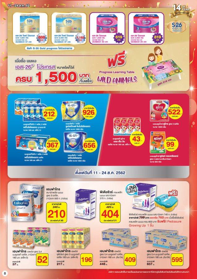 CJ โบรชัวร์ สินค้าลดราคา 1 แถม 1 ที่ ซีเจ ทุกสาขา 11 - 24 สิงหาคม 2562