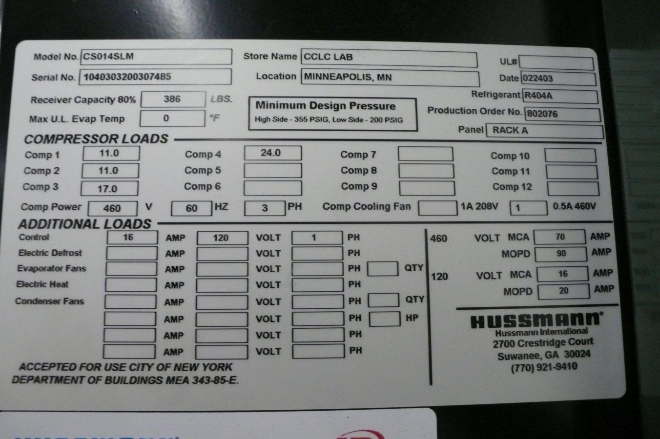 copeland discus wiring diagram supco 3 n 1 hussmann 30 hp low temp freezer refrigeration rack