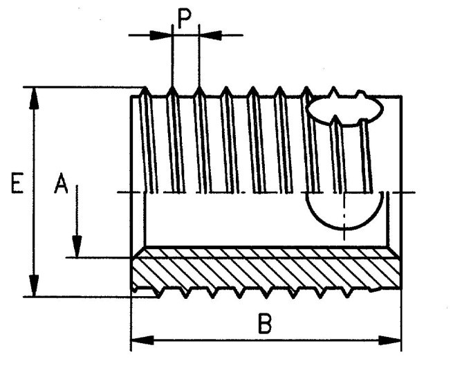 Self-Tapping Thread Inserts Cutting Hole In Steel And