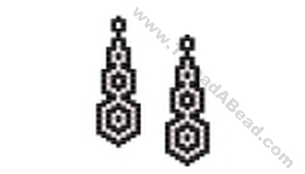 Black and White Circles Earring Bead Pattern By ThreadABead