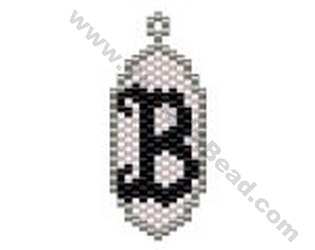Initial B Pendant Bead Pattern By ThreadABead