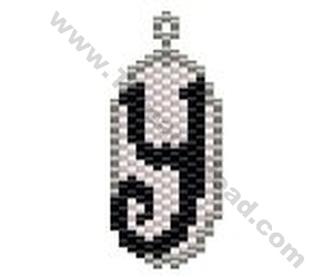 Initial Y Pendant Bead Pattern By ThreadABead